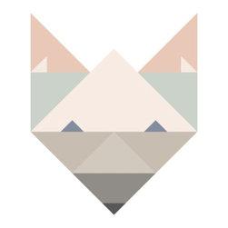 Poster Fox - Art print by talented Copenhagen illustrator and graphic designer Silke Bonde.