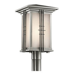 Kichler - Kichler Portman Square 1-Light Stainless Steel Post Light - 49163SS - This 1-Light Post Light is part of the Portman Square Collection and has a Stainless Steel Finish. It is Outdoor Capable.