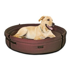 ABO - ABO 20616 BRISBANE CHOCOLATE MEDIUM HOME PET BED COTTON - ABO 20616 BRISBANE CHOCOLATE MEDIUM HOME PET BED COTTON