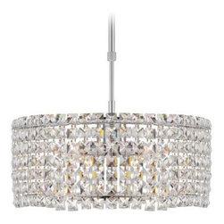 Possini Euro Ella Chrome Crystal Adjsutable Pendant Light -