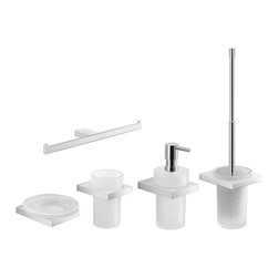 Gedy - Modern 5 Piece Chrome Bathroom Accessory Set - .