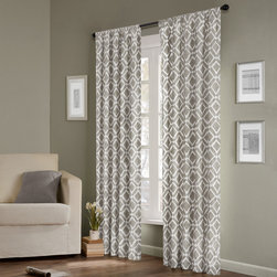 Madison Park - Madison Park Ella Curtain Panel - Add texture to your window treatments with this elegant curtain panel pair from Madison Park. It comes unlined, which allows plenty of natural light to filter in, and it comes in three different fashion colors to coordinate with your room.
