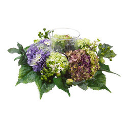 Silk Plants Direct - Silk Plants Direct Snowball, Hydrangea and Berry Candle Ring Centerpiece (Pack o - Pack of 2. Silk Plants Direct specializes in manufacturing, design and supply of the most life-like, premium quality artificial plants, trees, flowers, arrangements, topiaries and containers for home, office and commercial use. Our Snowball, Hydrangea and Berry Candle Ring Centerpiece includes the following: