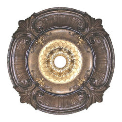 uDecor - MD-9023-SR Ceiling Medallion - Ceiling medallions and domes are manufactured with a dense architectural polyurethane compound (not Styrofoam) that allows it to be semi-flexible and 100% waterproof. This material is delivered pre-primed for paint. It is installed with architectural adhesive and/or finish nails. It can also be finished with caulk, spackle and your choice of paint, just like wood or MDF. A major advantage of polyurethane is that it will not expand, constrict or warp over time with changes in temperature or humidity. It's safe to install in rooms with the presence of moisture like bathrooms and kitchens. This product will not encourage the growth of mold or mildew, and it will never rot.