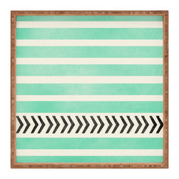 DENY Designs - Allyson Johnson Mint Stripes And Arrows Square Tray - With DENY's multifunctional square tray collection, you can use it for decoration in just about any room of the house or go the traditional route to serve cocktails. Either way, you�ll be the ever so stylish hostess with the mostess!
