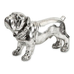 Bulldog Stick Silver Dog Statue - *Bulldog lovers beware - this little guy is sure to steal your heart. With loveable features and silver finish, this dog figurine is a great gift for any collector or bulldog enthusiast.