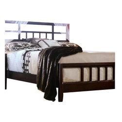 American Drew - American Drew Tribecca Modern Bed 2-Piece Bedroom Set - American Drew - Bedroom Sets - 91232XR420PKG - Tribecca mixes it up with modern Art Deco and Asian influences. Lighter scaled with classic clean lines and pared down forms Tribecca's inviting textures rich wood tones and nickel finish hardware could be just the fresh look you've been trying to imagine for the new retirement condo on the shore or a trendy city loft
