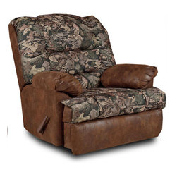 Chelsea Home Furniture - Chelsea Home Big Mans Handle Reclining Chair in Camo/Pinto Tobacco Microfiber - Big Mans Handle Reclining chair in Camo/Pinto Tobacco Microfiber belongs to Verona II collection by Chelsea Home Furniture