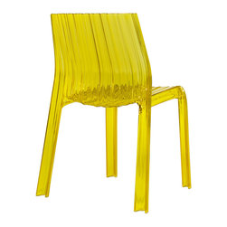 Kartell - Frilly Chair, Set of 2, Transparent Yellow - Designed by Patricia Urquiola.