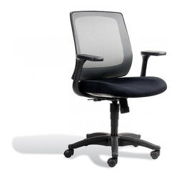 Jesper Office Furniture - Camilla Office Chair in Sterling - Features: