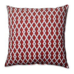 Pillow Perfect - Pillow Perfect Graphic Pomegranate 23-inch Decorative Pillow - Add the perfect blend of style and comfort to any space in your home with this 23-inch red geometric throw pillow from Pillow Perfect. Knife edging adds the finishing touch to this wonderful decorative pillow.