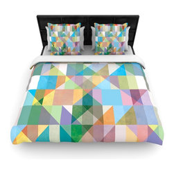 "Kess InHouse - Mareike Boehmer ""Graphic 74"" Rainbow Abstract Fleece Duvet Cover (Queen, 88"" x 8 - You can curate your bedroom and turn your down comforter, UP! You're about to dream and WAKE in color with this uber stylish focal point of your bedroom with this duvet cover! Crafted at the click of your mouse, this duvet cover is not only personal and inspiring but super soft. Created out of microfiber material that is delectable, our duvets are ultra comfortable and beyond soft. Get up on the right side of the bed, or the left, this duvet cover will look good from every angle."