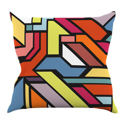 "Kess InHouse - Danny Ivan ""Abstract Shapes"" Throw Pillow (18"" x 18"") - Rest among the art you love. Transform your hang out room into a hip gallery, that's also comfortable. With this pillow you can create an environment that reflects your unique style. It's amazing what a throw pillow can do to complete a room. (Kess InHouse is not responsible for pillow fighting that may occur as the result of creative stimulation)."