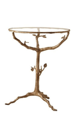 Arteriors - Sherwood Table - Invite bucolic beauty into your favorite setting with this enchanting tree table. Crafted from forged iron and given a rich gold finish by hand, it sets a natural yet magical mood.
