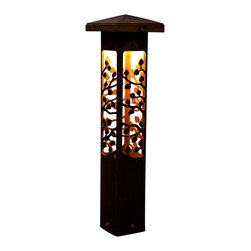 "Attraction Lights - Path light- Decorative Steel- Aspen Design, 24"" - -Solid, 1/8"" high grade steel construction"