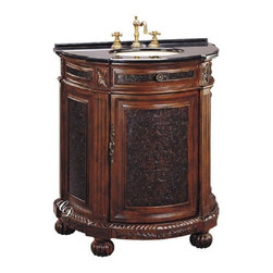 Classic Design - Sink Cabinet with Black Marble - Sink Cabinet with Black Marble. Dimensions: 29 in. x 20 in. x 36 in.