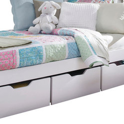 Lea Haley 3-Drawer Underbed Storage Boxes in White