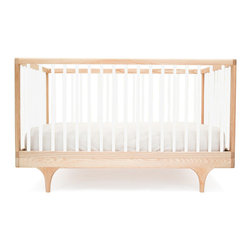 Kalon Studios - Kalon Studios Caravan Crib, White - Inspired by the storybook circus wagon, the Caravan Crib plays with classic form and contemporary, ultra-bold colors. Thoughtfully considered, the Caravan Crib meets modern parent's needs: