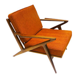 Palm Springs Lounge Chair in Electric Orange - Timeless design meets high-quality craftsmanship in the Palm Springs Lounge Chair. Reclaimed teak lends its rich color to accentuate the delicately textured cushions. With the Palm Springs Chair in your space, you'll always be sitting in style.