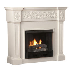 Holly & Martin - Holly & Martin Huntington Gel Fireplace in Ivory - Holly and Martin - Fireplaces - 37131031618
