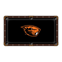 Holland Bar Stool - Holland Bar Stool Oregon State Pool Table Cloth - 108 Inch - Looking to set your pool table apart from the others? Look no further than our Covers by HBS logo billiard cloths! Manufactured by Hainsworth of England with over 225 years of experience, you'll be getting the very best for your pool table. The logo itself is woven right into the fabric to ensure ball play is not compromised. Do not settle for anything but the best when it comes to your pool table. Display your pride boldy across your table with help from Covers by HBS! Cloth sets come with enough material to cover rails and bed.