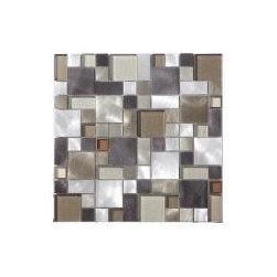 Mix Aluminum & Glass Mosaics - Beautiful Kitchen Back-Splash and Wall Mosaics