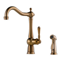 Brizo - Brizo 61136LF-BZ Tresa Brushed Bronze Kitchen Faucet With Spray - The Brizo 61136LF-BZ is a one handle kitchen faucet with matching side spray from Brizo's Tresa design suite that bridges the past with today with traditional and timeless styling and comes in a Brushed Bronze finish.