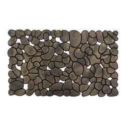 Entryways - Rubber Stones (Gold) Recycled Rubber Doormat - This mat has the rich look of traditional wrought iron -- with lovely gold metallic color -- at an affordable price.