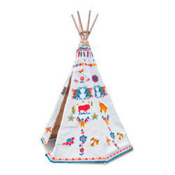 Nathalie Lete Tepee - Kids love playhouses and forts, so I love the idea of an indoor tepee. This one is adorable!