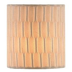 Currey & Company - Small Platinum Ribbed Shantung Shade - Decorative shade
