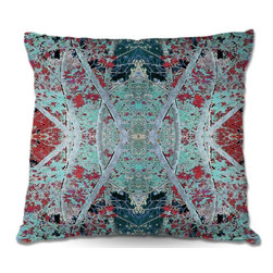 DiaNoche Designs - Pillow Woven Poplin by Hooshang Khorasanis Snowy Evening - Toss this decorative pillow on any bed, sofa or chair, and add personality to your chic and stylish decor. Lay your head against your new art and relax! Made of woven Poly-Poplin.  Includes a cushy supportive pillow insert, zipped inside. Dye Sublimation printing adheres the ink to the material for long life and durability. Double Sided Print, Machine Washable, Product may vary slightly from image.