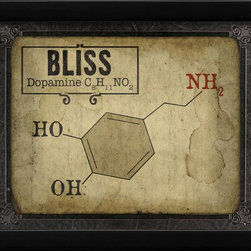 The Artwork Factory - Bliss Molecule Framed Artwork - Ready-to-Hang, 100% Made in the USA, museum quality framed artwork
