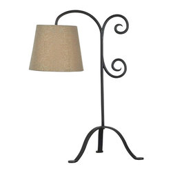 Kenroy Home - Kenroy 32086BRZG Morrison Table Lamp - Whether it's behind a couch or beside a favorite chair, Morrison's hanging light brightens a reading environment. The classic curlicue design, finished in Bronze Graphite, is reminiscent of old wrought iron gates.