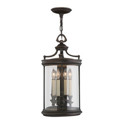 Fine Art Lamps - Louvre Outdoor Lantern, 538282ST - Herald the entrance of your home with this noble-looking lantern. Its fine bronze finish, handblown glass and antiqued candles combine for a gracious, welcoming effect.