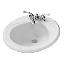 "American Standard - American Standard 0449.004US.020 Kentucky 19"" Round Self-Rimming Lavatory, White - American Standard 0449.004US.020 Kentucky 19"" Round Self-Rimming Lavatory, Faucet Holes On 4"" Centers, White. This self-rimming, round lavatory sink features a vitreous china construction, a front overflow, and a rim that channels any excess water into the bowl. It comes with 4"" centered faucet mounting holes, and it measures 19"" round."
