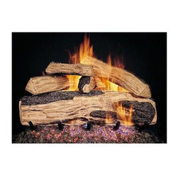 RH Peterson Gas Logs - RH Peterson Designer Series Split Oak Gas Logs (20-inch) - Choose Size: 20-inch. Original split oak logs. Burners not included. Compatible with G4, G45 burners & G5, G45A, G46 ANSI certified burners. Uses natural or propane gas. Vented gas log. Made of refractory ceramic. Lifetime warranty