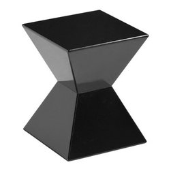 Sunpan Modern - Rocco End Table - These fun and functional high gloss end tables will bring life to any space! Use beside an occasional chair or stagger them beside one another to create a unique cocktail table. Features: -High gloss finish. -Material: Fiber glass.