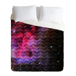 DENY Designs - Caleb Troy Tribal Galaxy Elevator Duvet Cover - Turn your basic, boring down comforter into the super stylish focal point of your bedroom. Our Luxe Duvet is made from a heavy-weight luxurious woven polyester with a 50% cotton/50% polyester cream bottom. It also includes a hidden zipper with interior corner ties to secure your comforter. it's comfy, fade-resistant, and custom printed for each and every customer.