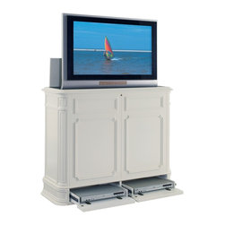 TVLIFTCABINET Crystal Pointe TV Lift Cabinet - The TVLIFTCABINET Crystal Pointe TV Lift Cabinet offers you ample storage and extra features that make it a handsome, technically superior TV Lift Cabinet.