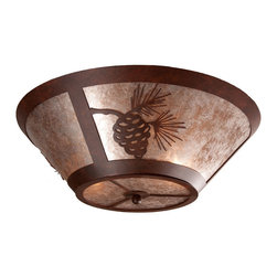 Steel Partners Inc - Round Drop Ceiling Mount - PINECONE - Every piece we create is unique — handcrafted at our factory in Chehalis, Washington, USA. Due to this, lead times are 2 to 4 weeks.