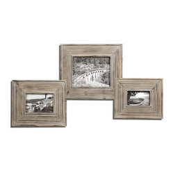Alfio Wood Photo Frames, Set of 3