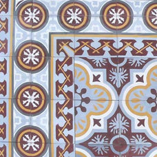 eclectic floor tiles by Avente Tile