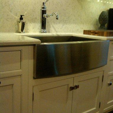 Good options! - Tedd Wood Square Inset cabinetry, HanStone Aspen quartz slab coubtertops