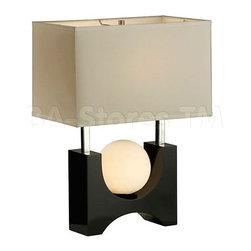Golden Gate Table Lamp in Gloss Black -