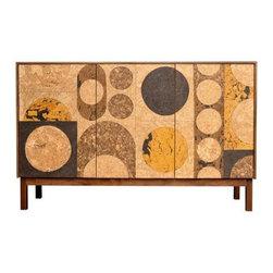 Iannone Design - Iannone Design | Cork Mosaic Sideboard - Circle - Michael Iannone design.