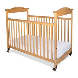 Foundations - Full Hardwood Crib - Biltmore - The crib was manufactured in 2011 or later and complies with the new federal safety standards issued by the CPSC. Made of Hardwood. Includes 2 in. non-marking, ultra-quiet casters (2 locking). Adjustable, 2 position mattress board. Headboards arched crown molding. High quality construction includes mortise and tenon joinery and high strength fasteners for superior durability. Solid Steel, SafeSupport crib frame has a lifetime warranty. Plastic teething rails protect child and crib. Mattress not included. Crib has full 5 year warranty, with lifetime warranty on frame, casters and hardware. Some assembly required. 32.35 in. W x 54.75 in. L x 44.5 in. H (50 lbs.). Crib Safety: ivgStores cares about the safety of the products we sell especially for your new little one. We work closely with our manufacturers and only carry those items which meet or exceed federal and state laws. If you are considering buying a new crib or even using a previously owned or heirloom crib, we recommend you visit  cribsafety.org to learn more about crib safety.When you want to make a statement in style and quality, turn to the Biltmore crib. Beading details the perimeter of the crib to make this crib the most luxurious crib available today. Color coordinated finishes are matched with hardware and casters for added beauty. Fixed-side crib features a lower profile, providing easier accessibility to infant while reducing back strain for caregiver. Crib features Clearview end panels which allow for easy viewing of infant. JPMA certified. Foundations uses only Wood certified to having been harvested with safe and responsible forestry practices and all products comply with the PEFC certification seal.