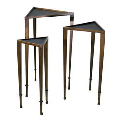 Cyan Design - Cyan Design Lighting 02731 Triangle Nesting Tables - Cyan Design 02731 Triangle Nesting Tables