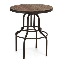 Twin Peaks Counter Table Distressed Natural - Fir Wood and Metal Counter Table in Distressed Natural with the ability to adjust 6 in height