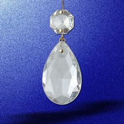 Clear Glass Pendalogue - Glass Pendalogue Clear 1 1/2 inch H. Easily add some sparkle to chandeliers and candle holders.