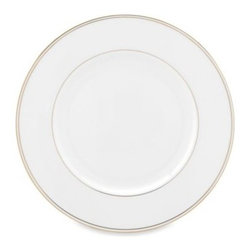 Lenox - Lenox Federal Gold 10 7/8-Inch Dinner Plate - The epitome of classic American design, Federal Gold combines simple elegance with the enduring quality of fine bone china.